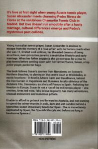 """A picture of the back cover of a book called """"A Spanish Love Affair"""" by Susan Joy Alexander."""