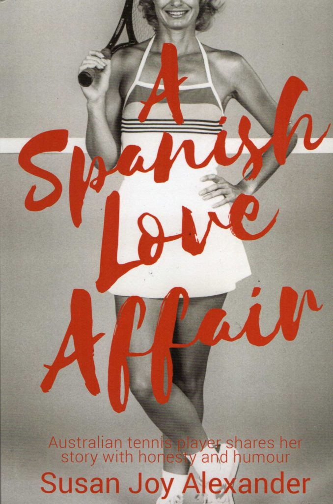 "A picture of the front cover of a book called ""A Spanish Love Affair"" by Susan Joy Alexander."